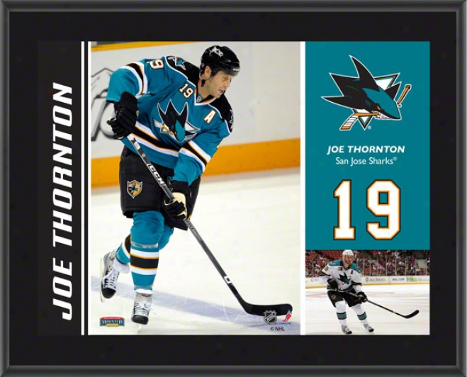 Joe Thornton Plaque  Detils: San Jose Sharks, Sublimated, 10x13, Nhl lPaque