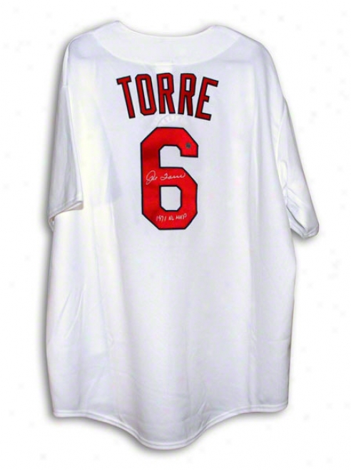 Joe Torre St. Louis Cardinals Autobarphed White Majestic Throwback Jersey Inscribed 1971 Nl Mvp