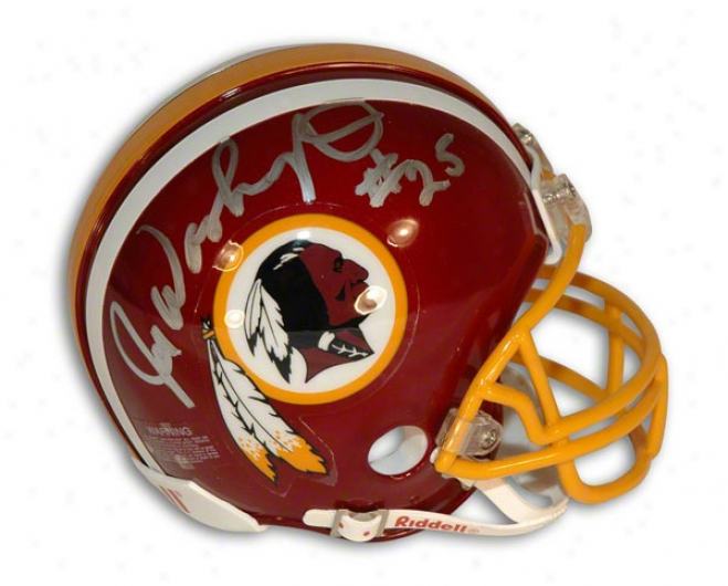 Joe Washington Autographed Washington Redskins Mini Helmet