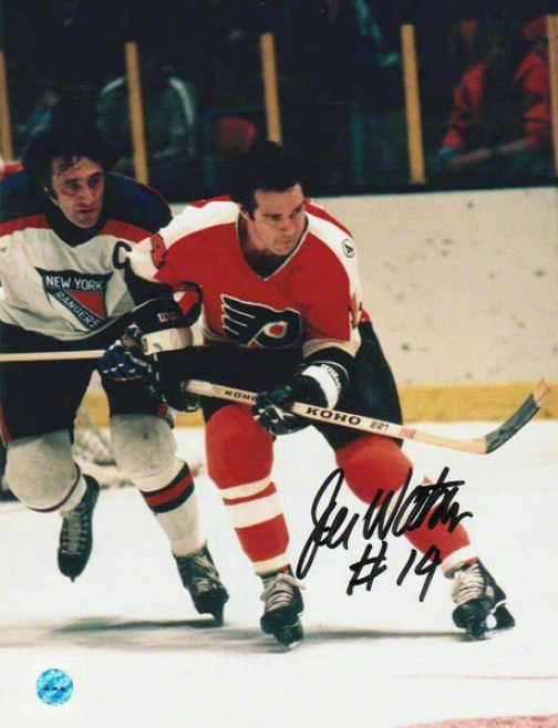 Joe Watson Autographed Philadelphia Flyers 8x10 Photo