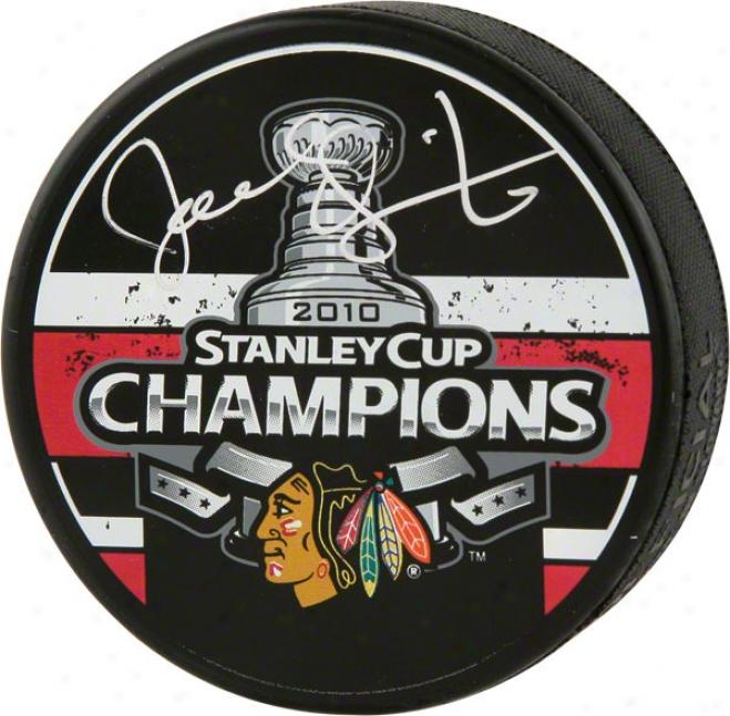 Joel Quenneville Autographed Puck  Details: 2010 Stanley Cup Logo Puck