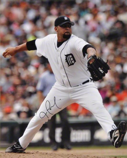 Joel Zumaya Detroit Tigers - Pitching - Autographed 16x20 Photo