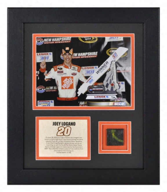 Joey Logano 2009 Recent Hampshire Mill-~ Framed 6x8 Photograph With Race Winning Tire Le 320