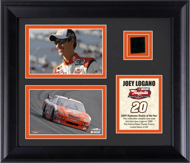 Joey Logano Nascar Rookie Of The Year Framed 6x3 Photographs With Tire - Le Of 320