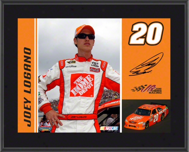 Joey Logano Sublimated 10x13 Flat plate of metal