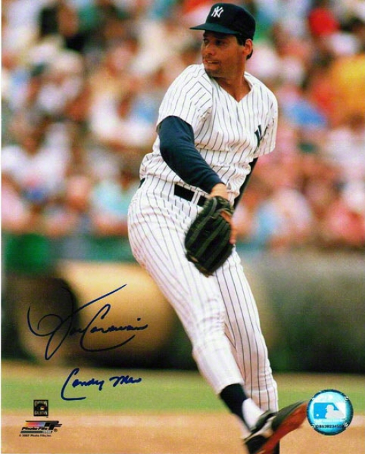 John Candelaria New York Yankees Autographed 8x10 Photograph With Candy Man Inscription