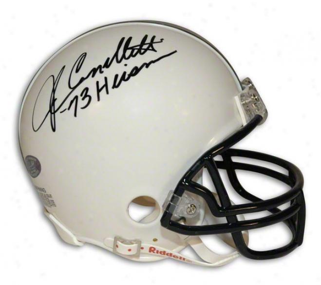 John Cappelletti Autogrzphed Penn State Mini Helmet Inscribed &quotheisman 73&quot
