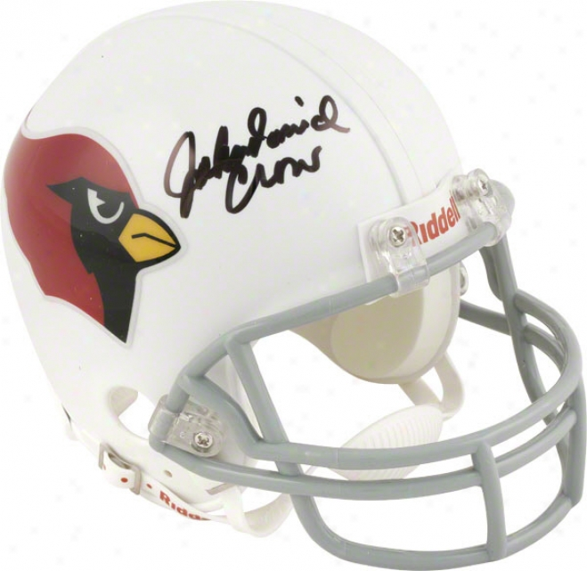John David Crow St. Louis Cardinals Autographed Throwback Mini Helmet