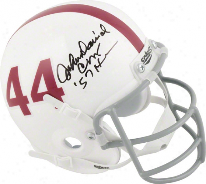 John Davvid Crow Texas A&m Aggies A8togfaphed Mini Helmet With 57 Heisman Inscription