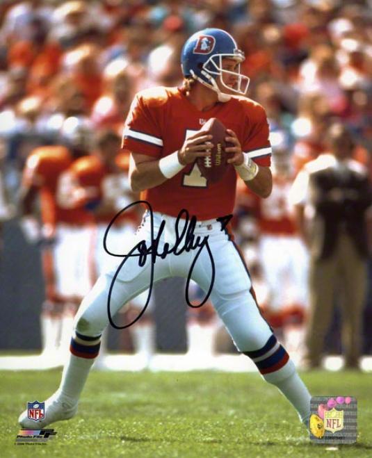 John Elway Autographed 8x10 Photograph  Details: Denver Broncos