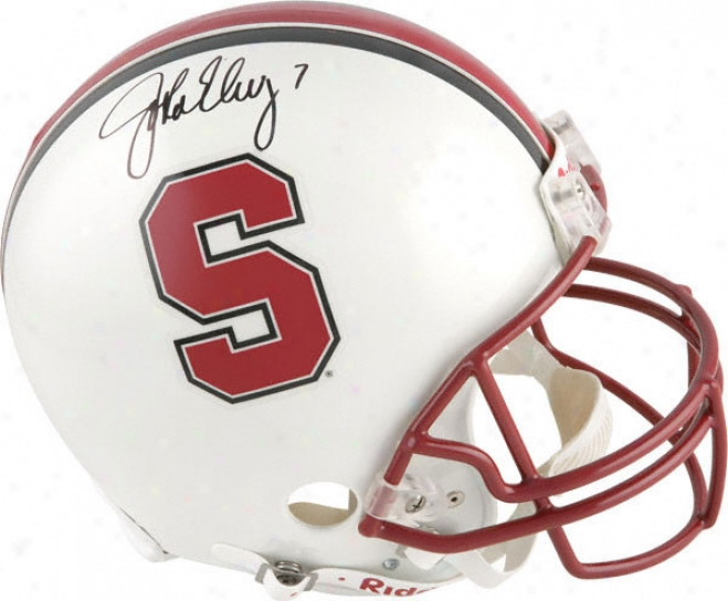 John Elway Autographed Pro-line Helmet  Details: Stanford Cardinal, Authentic Riddell Helmet