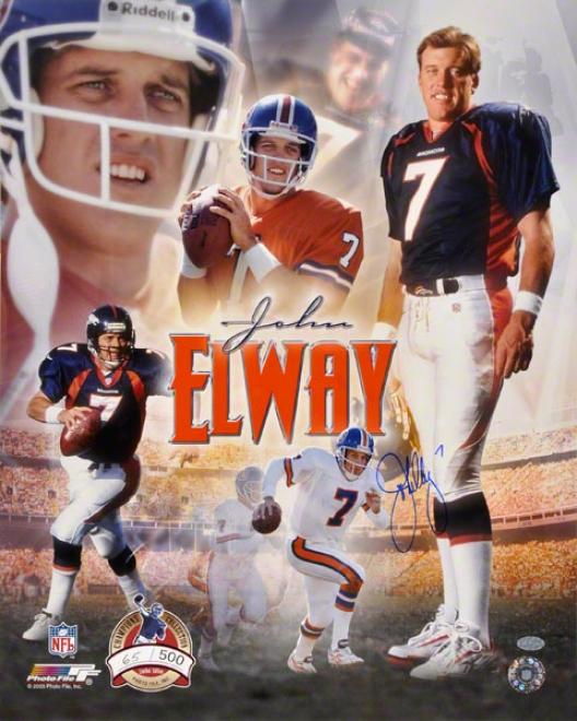 John Elway Denver Broncos 16x20 Autographed Photograph