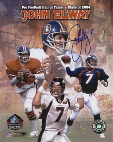 John Elway Denver Broncos Autographed 16xx20 Hof 2004 Collage Photograph