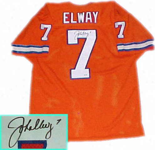 John Elway Denver BroncosA utographde Throwback Jersey