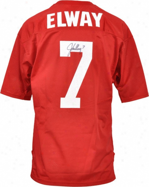 John Elway Stanford Cardinal Autographed Red Mesh Jersey