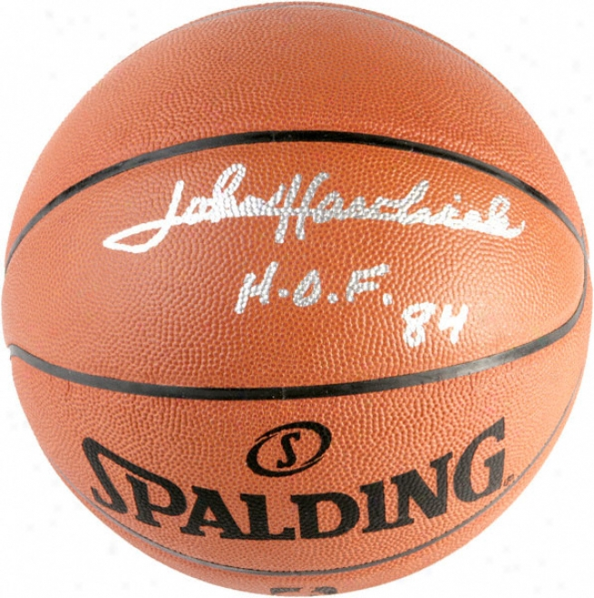 John Havlicek Boston Celtics Autographed Spalding Basketball W/ &quothof 84&quot Inscription