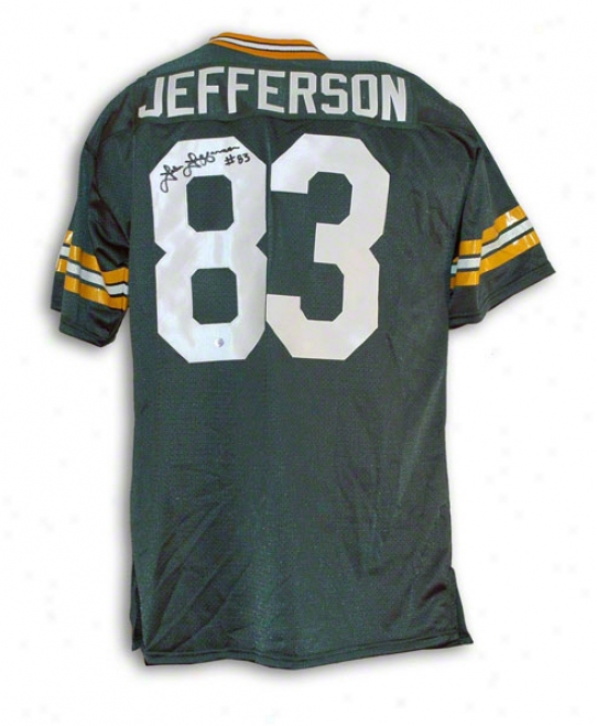 John Jefferson Green Bay Packers Autographed Green Throwback Jersey