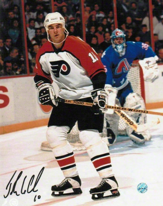 John Leclair Philadelphia Flyers Autographed 8x10 Photo Vs Nordiques
