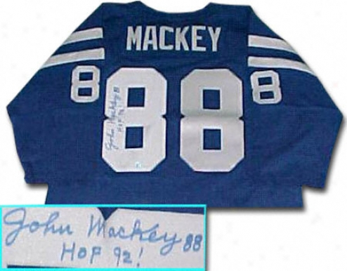 John Mackey Baltimore Colts Autographed Throwback Jersey