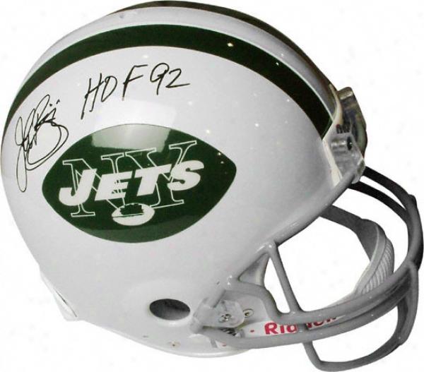John Riggins Autographed Pro-line Helmet  Details: New York Jets, Authentic Risdell Helmet, Hof Inscription