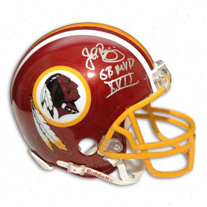 John Riggins Autographed Pro-line Redskinns Helmet W/''sb Xvii Mvp'' Inscription