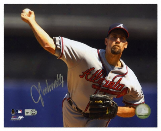 John Smoltz Atlanta Braves - Releasing Ball - Autographed 8x10 Photograph