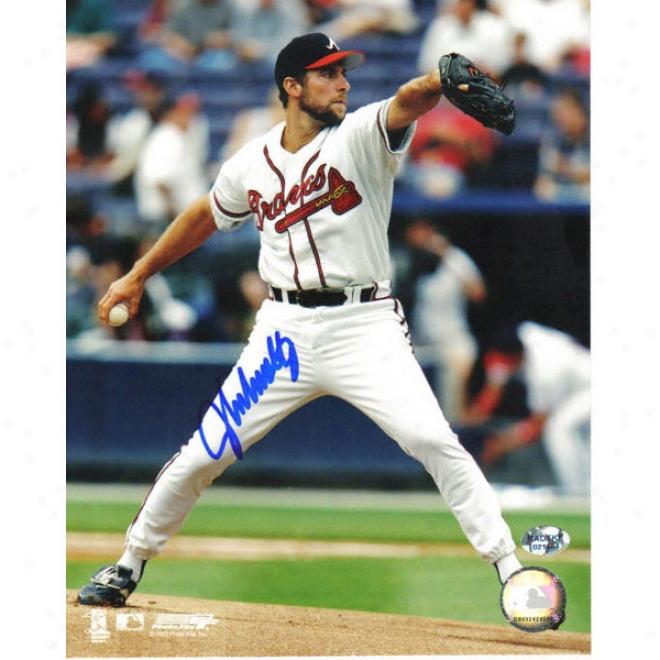 Jogn Smoltz Atlanta Braves -white Jersey- 8x10 Autographed Photograph