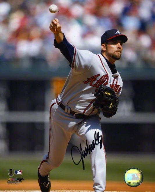 John Smoltz Autographed 8x10 Photograph  Details: Atlanta Braves
