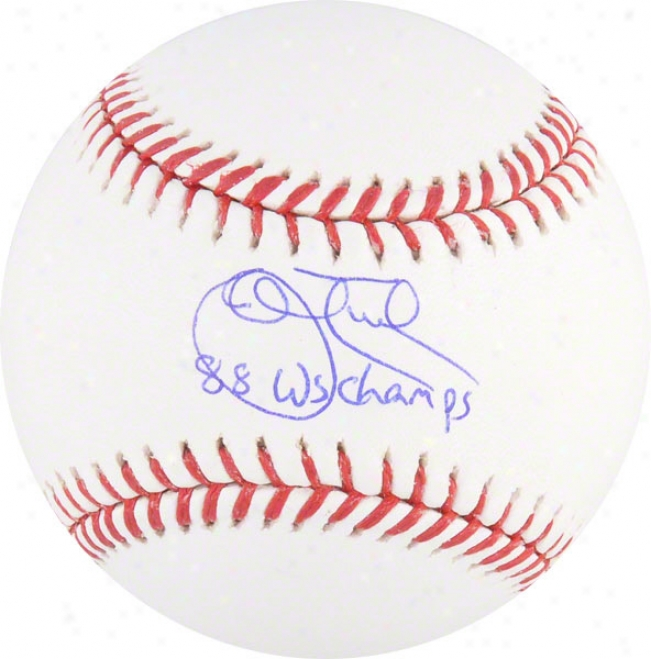 John Tudor Autographed Baseball  Details: 88 Ws Champs Inscription