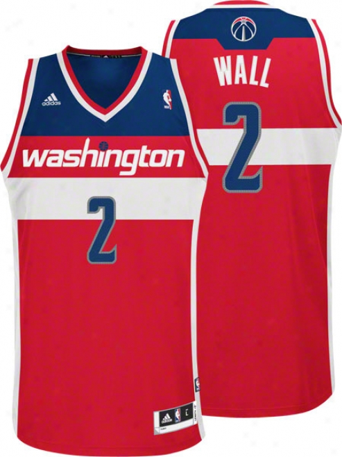 John Wall Jersey: Adidas Red Swingman #2 Washington Wizards Jersey