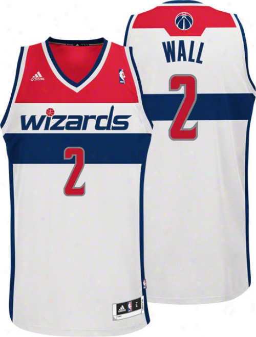 John Wall Jersey: Adidas White Swingman #2 Washington Wizards Jersey