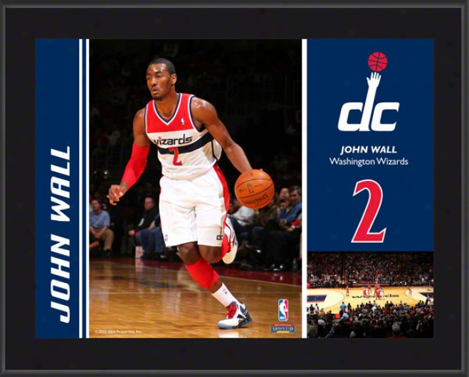 John Wall Plaque  Details: Washington Wizards, Suglimated, 10x13, Nba Plaque