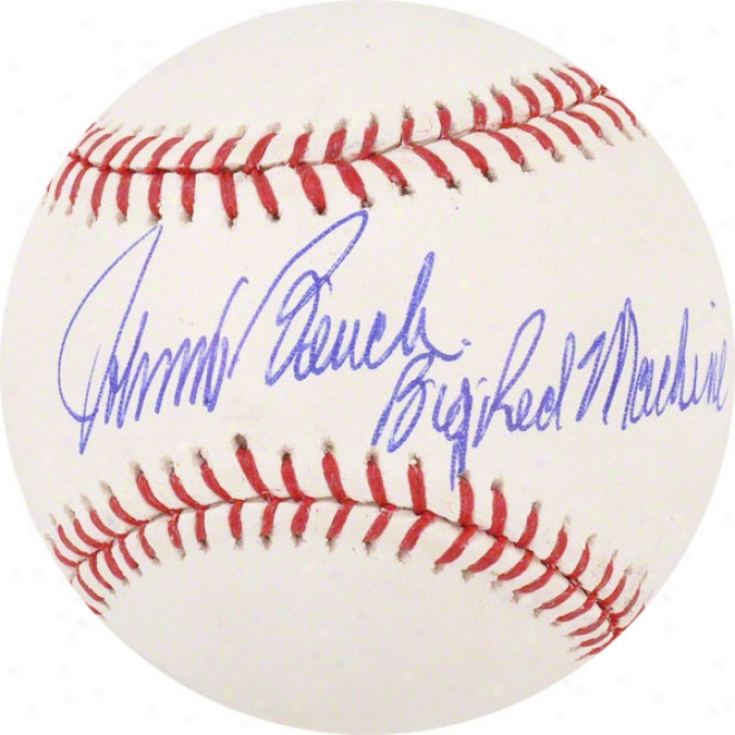 Johnny Bench Autographed Baseball  Details: Cincinnati Reds, With &quotbig Red Machine&quot Inscription