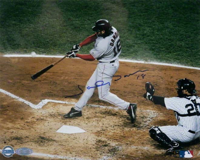 Johnny Damon Boston Red Sox - 2004 Alcs Game 7 Grand Bang - 8x10 Autographed Photograph
