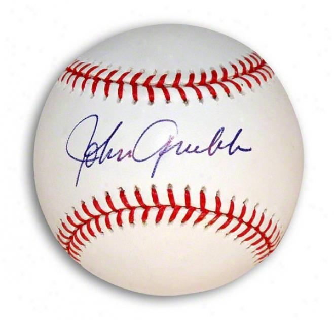 Johnny Grubb Autographed Autographed Mlb Baseball