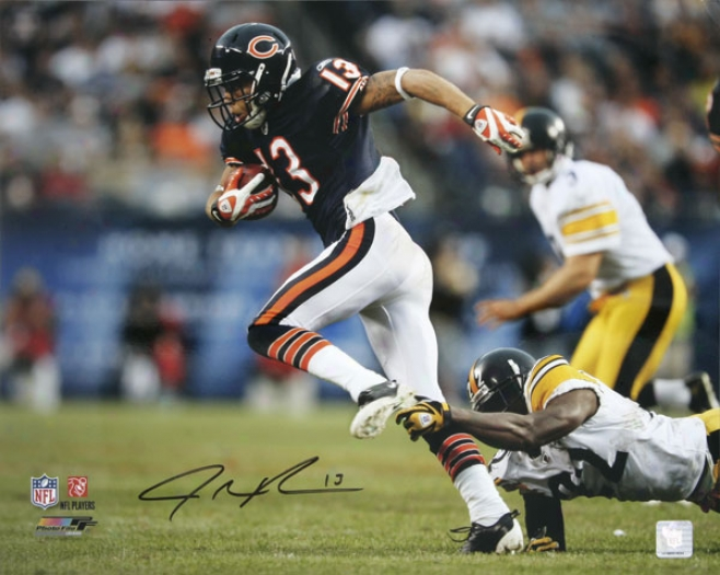 Johnny Knox Chicago Bears - Vs Steelers - Autographed 16x20 Photograph