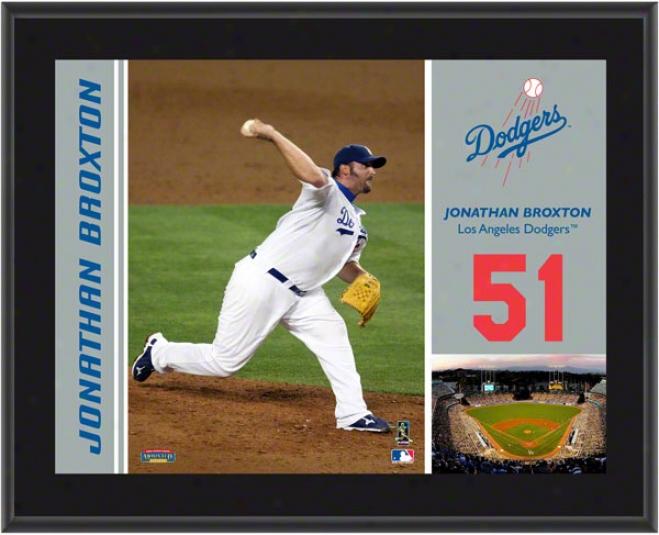 Jonathan Broxton Plaque  Details: Los Angeles Dodgers, Sublimated, 10x13, Mlb Plaque