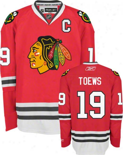 Jonathan Toews Jersey: Reebok Red #19 Chicago Blackhawks Premier Jersey