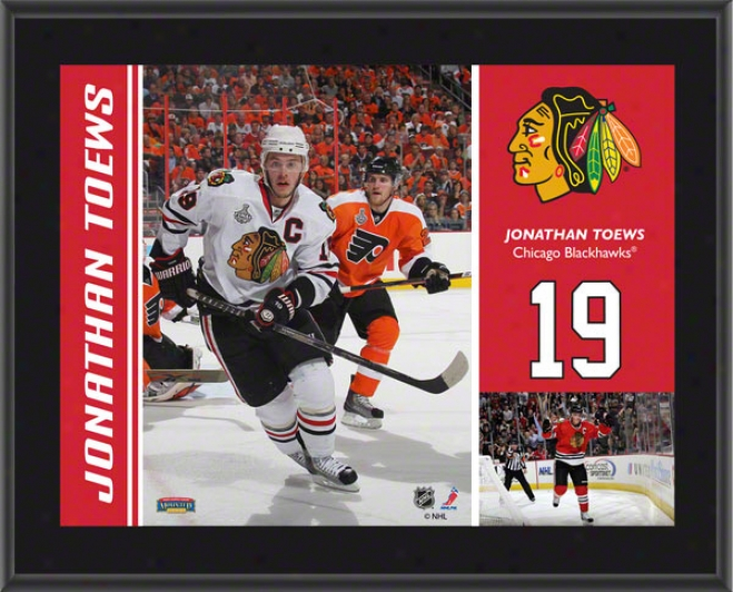 Jonathan Toews Plaque  Details: Chicago Blackhawks, Subblimated, 10x13, Nhl Plaque