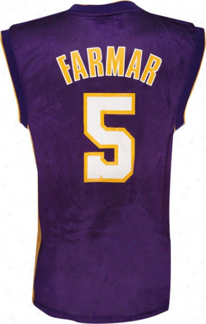 Jordan Farmar Jersey: Adidas Purple Replica #5 Los Angeles Lakers Jersey