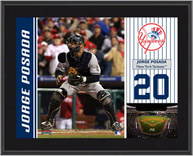 Jorge Posada Plaque  Particulars: New York Yankees, Sublimated, 10x13, Mlb Plaque