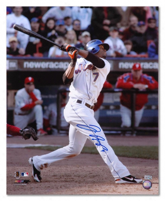 Jose Reyes New York Mets - Hitting - Autographed 16x20 Photograph