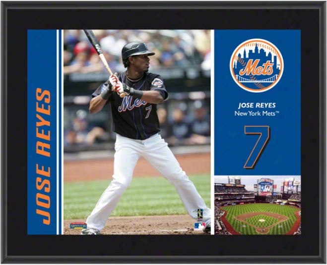 Jose Reyes Plaque  Details: New York Mets, Sublimated, 10x13, Mlb Plaque