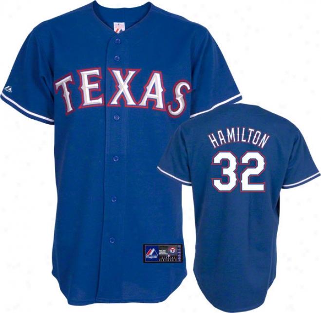 Josh Hamilton Jersey: Adult Majestic Altrrnate Royal Blue Replica #32 Texas Rangers Jersey