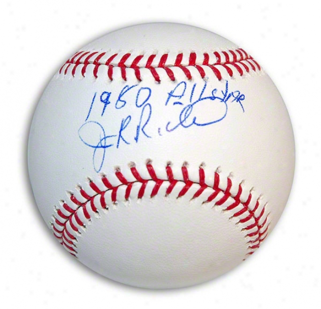 J.r. Richard Autographed Mlb Baseball Inscribed &quot1980 All Star&quot