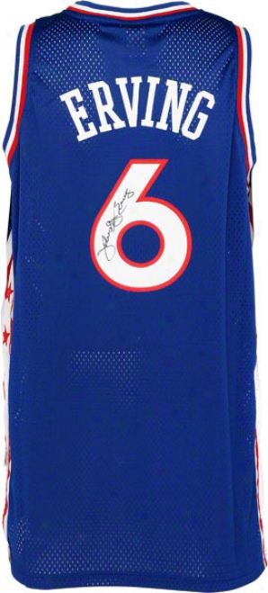 Julius Erving Autographed Jerseey  Details: Philadelphia 76ers, Adidas Swingman, Dr. J Inscription