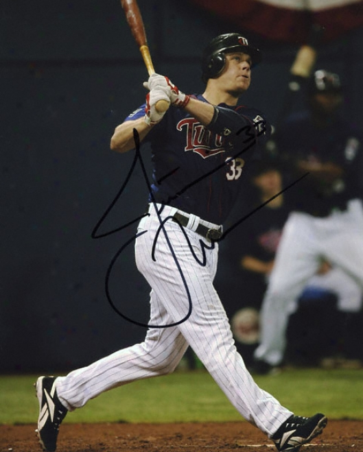 Justin Morneau Autographed Photograph: Siged Minnesota Twins 8x10 Photo