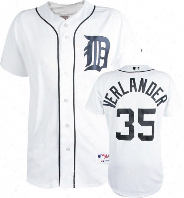 Justin Verlander Of a ~ color Majestic Authentic Hom3 On-field Detroit Tigers Jersey
