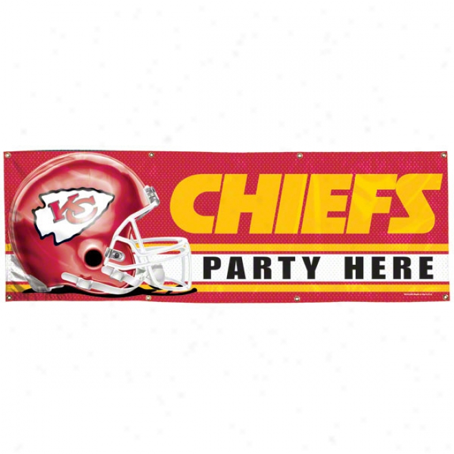 Kansas City Chhiefs 2x6 Vinyl Flag