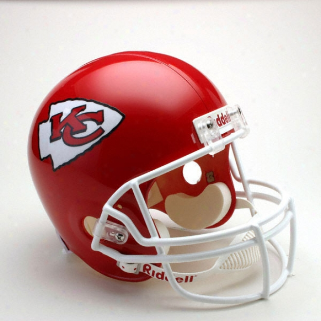 Kansas City Chiefs Deluxe Replica Riddell Full Size Helmet